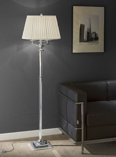 Franklite SL202 Chrome Floor Lamp (Class 2 Double Insulated)